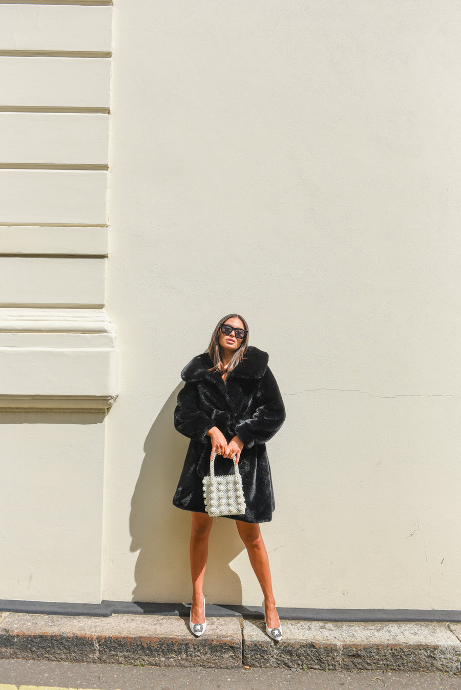 Faux Black Luxe Coat