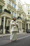 Bridal Faux White Luxe Coat