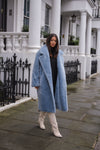 Ice Blue Teddy Bear Coat