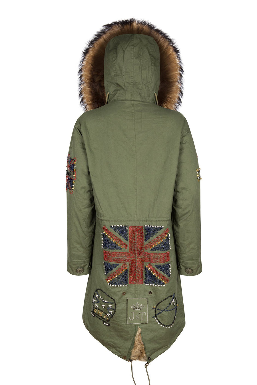 Faux Darling Bead Natural Parka