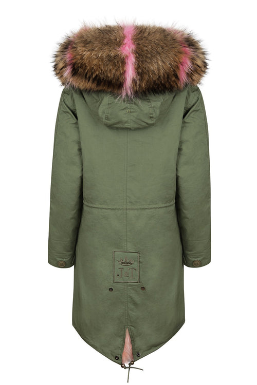 Pastel Patch Darling Parka, Jane and Tash