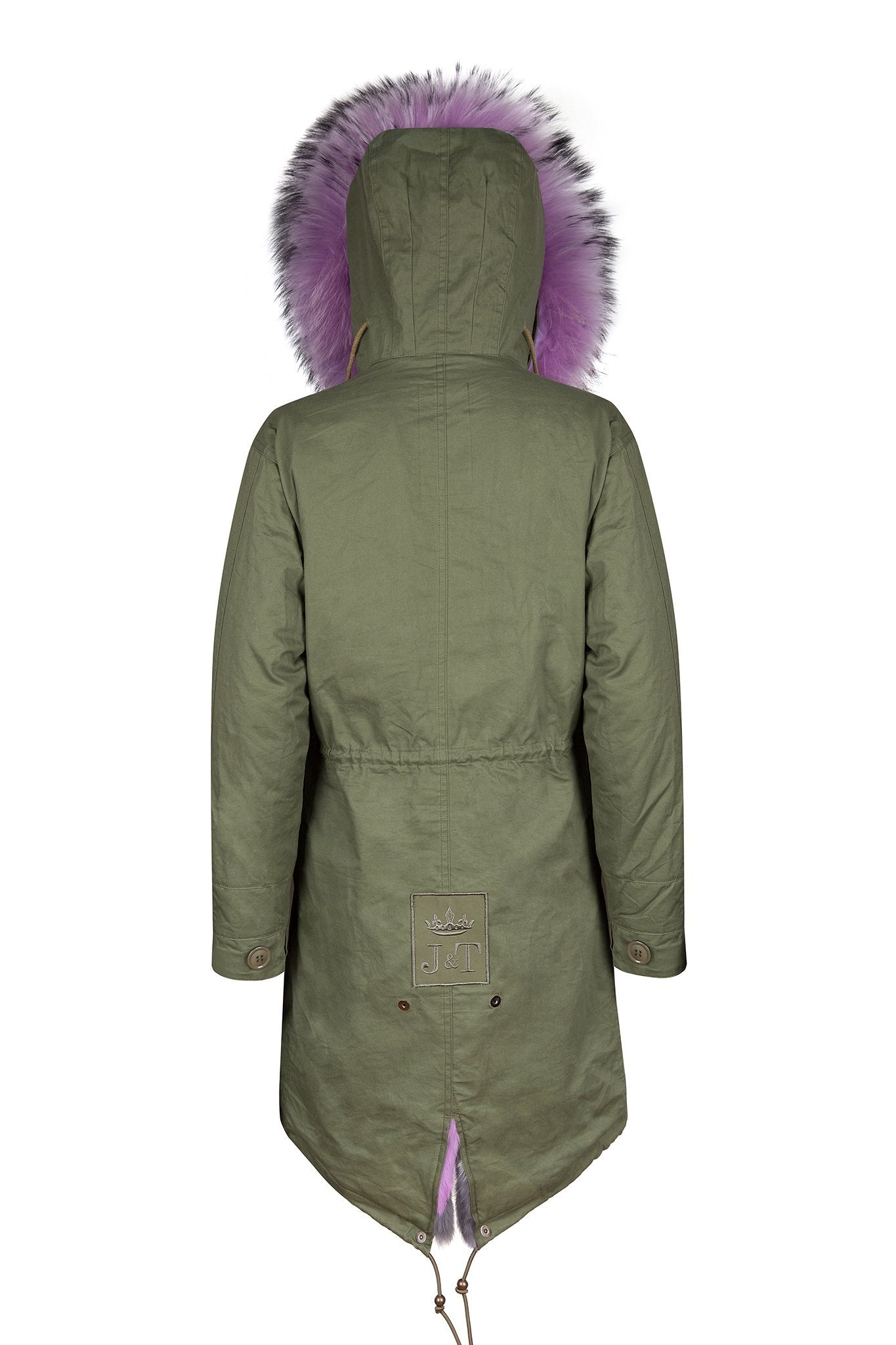 Lilac Multi-tone Darling Parka (Back) Jane and Tash