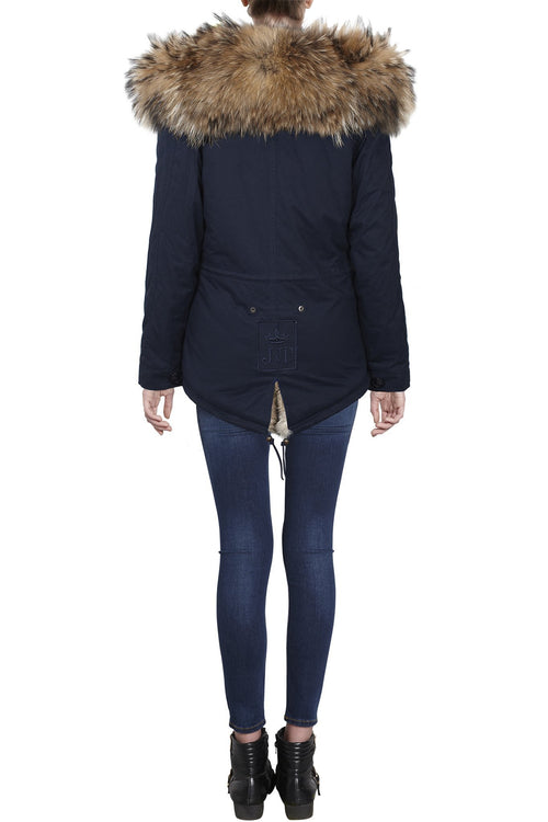 Navy on Natural Grace Parka