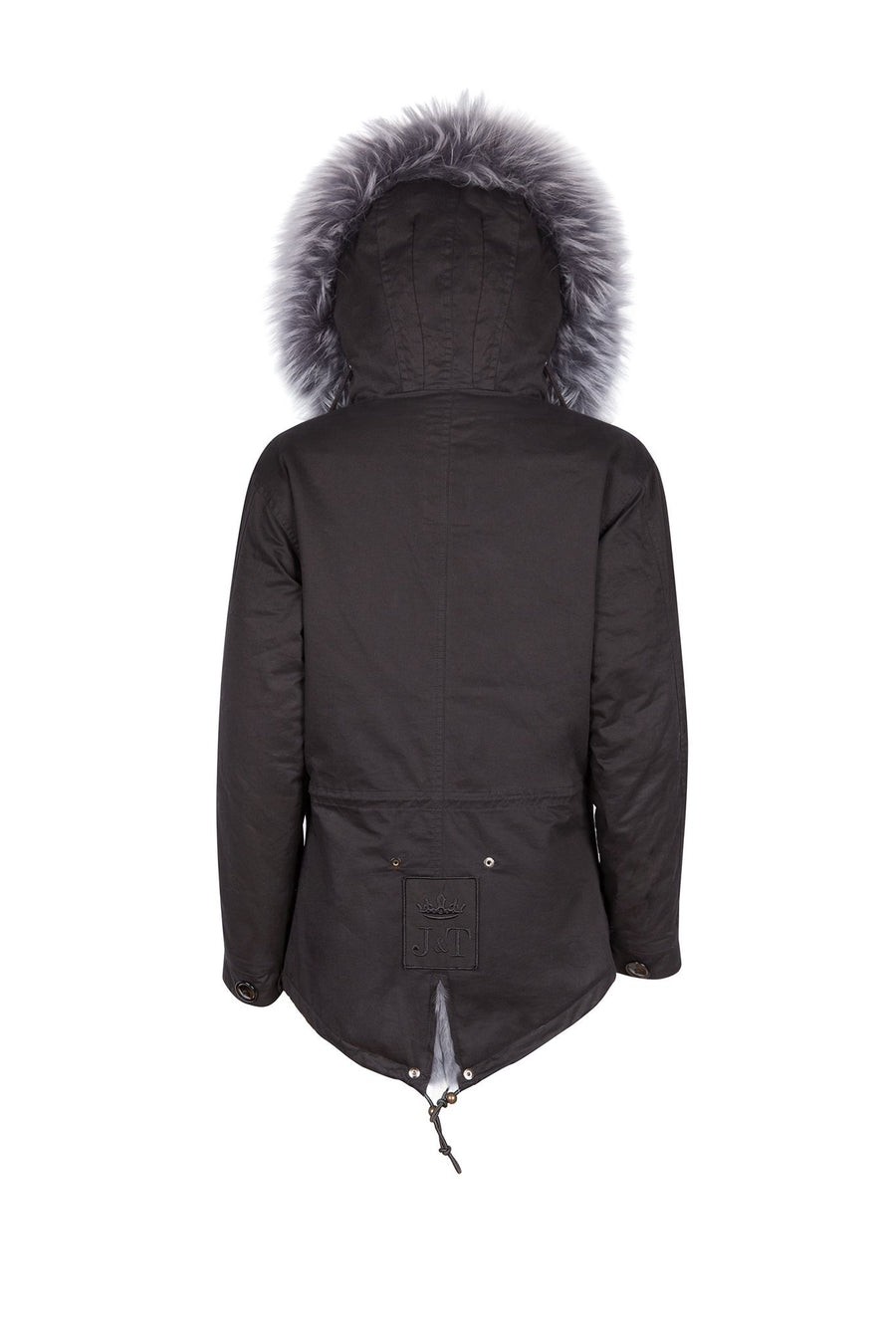 Faux Black on Grey Grace Parka