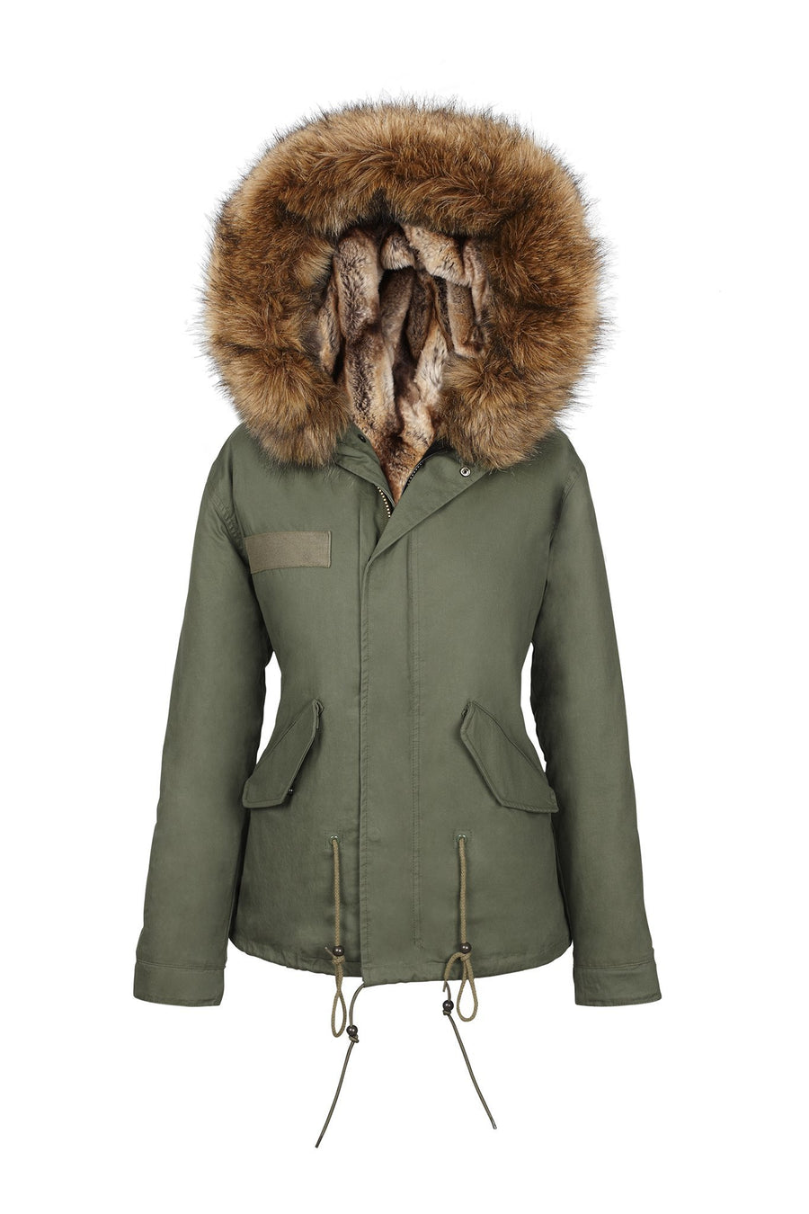 Faux Natural Grace Parka