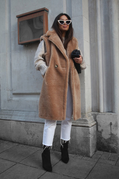Brown Teddy Gilet
