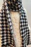 Houndstooth Black Scarf