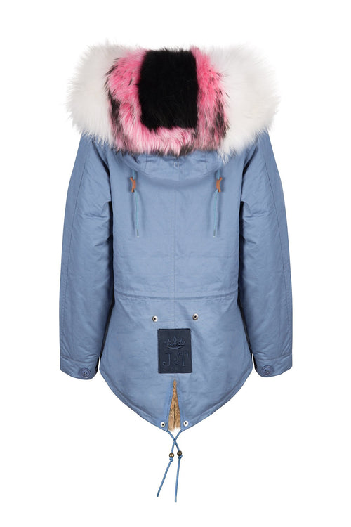 New Blue Dolly Mixtures Parka