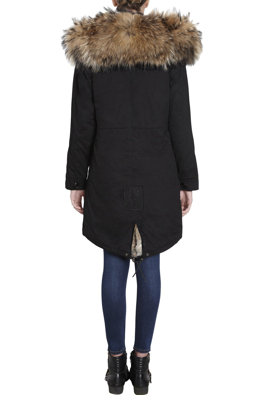 Faux Black on Natural Darling Parka