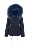 Blue on Blue Grace Parka (Front) Jane and Tash