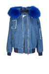 Blue Denim Bomber (Front) Jane and Tash