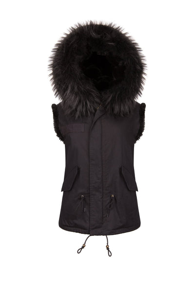 Black Gilet (Front) Jane and Tash