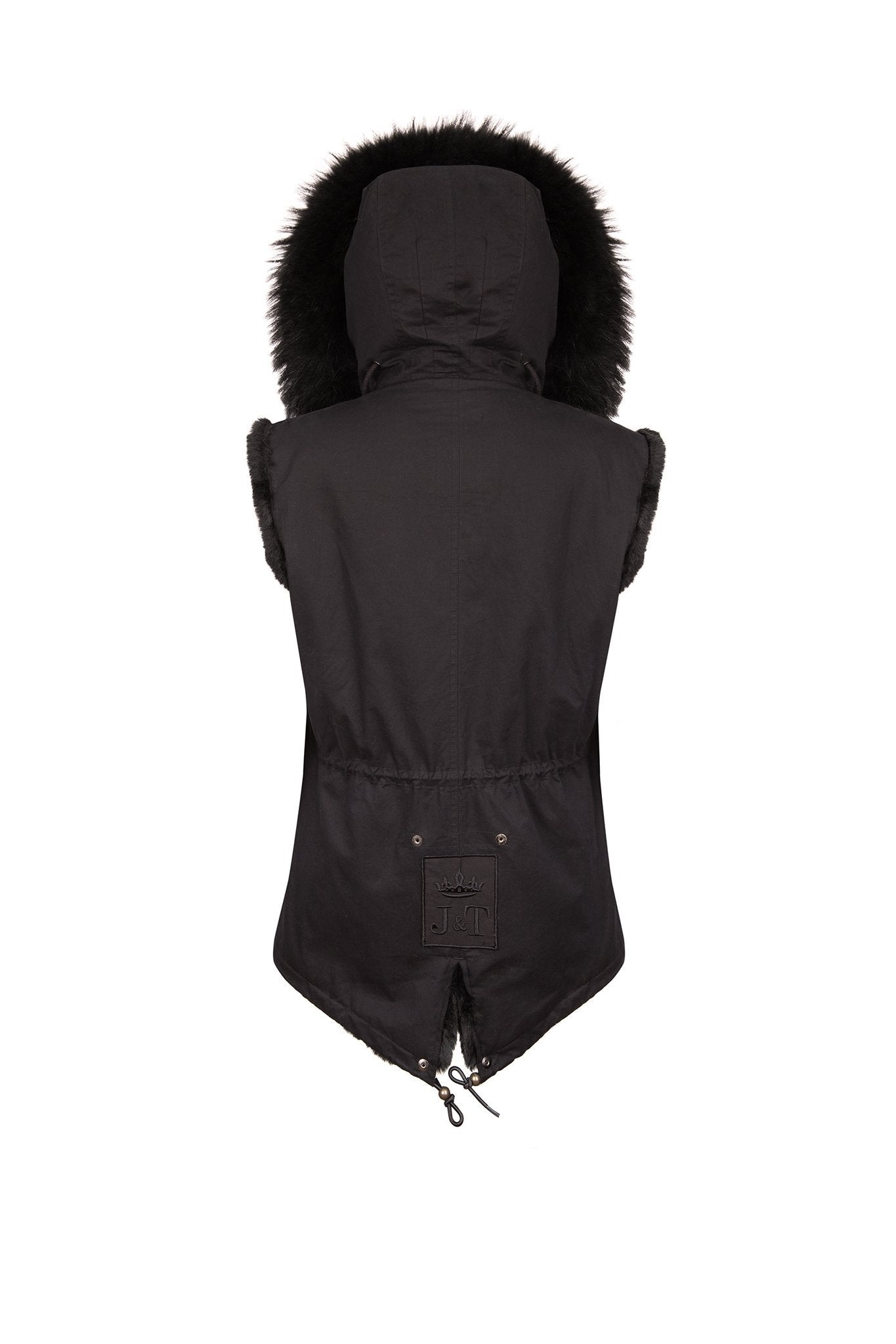 Black Gilet (Back) Jane and Tash