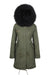 Faux Green on Black Darling Parka