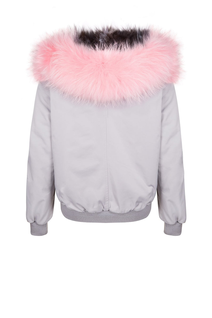 Grey and Pink Bomber