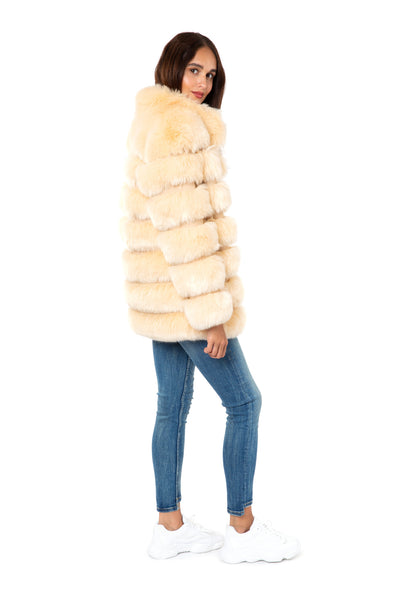 Cream Faux Fur Jacket