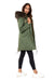 Faux Olive Green Darling Parka