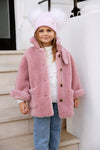Kids Pink Double Pom hat