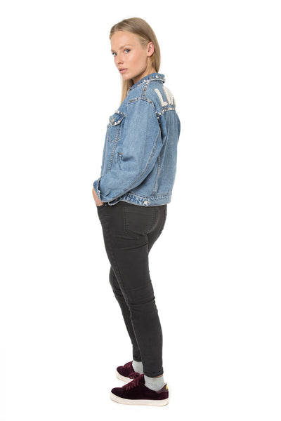 Studded Love Denim Jacket
