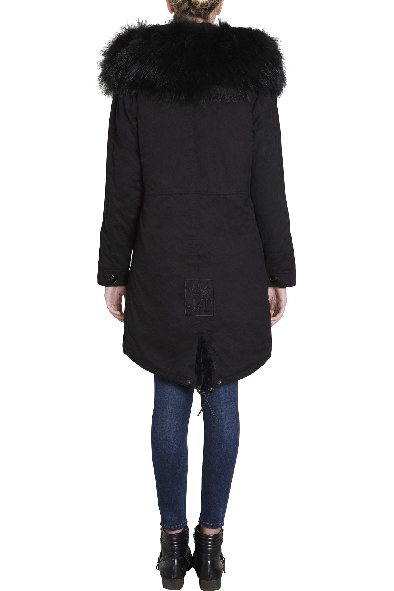 Black on Black Darling Parka (Back) Jane and Tash