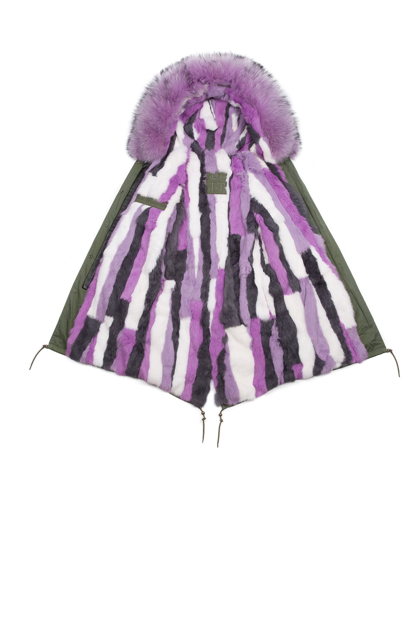 Lilac Multi-tone Darling Parka (Open) Jane and Tash