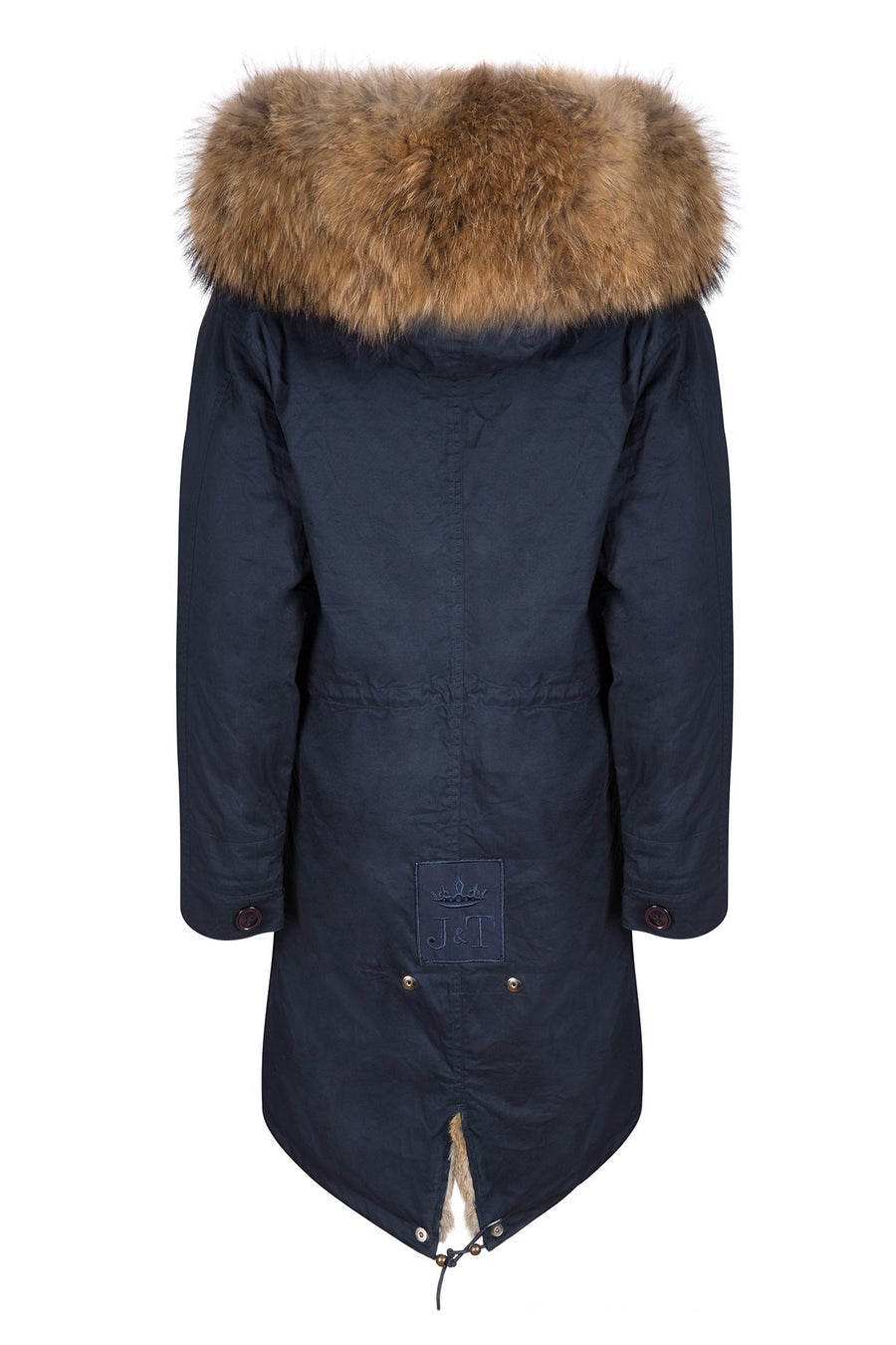 Navy on Natural Darling Parka