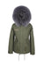 Faux Purple Dove Grace Parka
