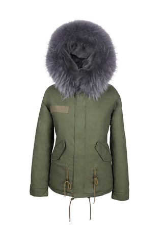 Grey on Grey Darling Parka
