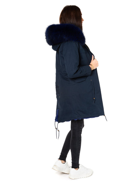 Navy on Navy Darling Parka