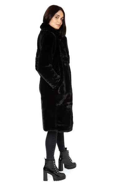 Luxe Faux Black Teddy Coat