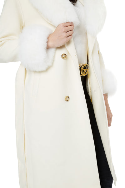 Cashmere Fur-trimmed Coat
