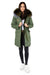 Olive Green Grey Darling Parka