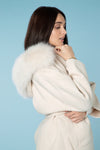 Cream Cashmere Wrap Jacket