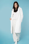 Luxe Faux White Teddy Coat