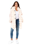 Pink Fur-trimmed Cashmere Coat