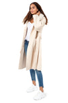 Cream Cashmere Wrap Coat