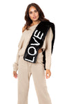 Faux Fur LOVE scarf