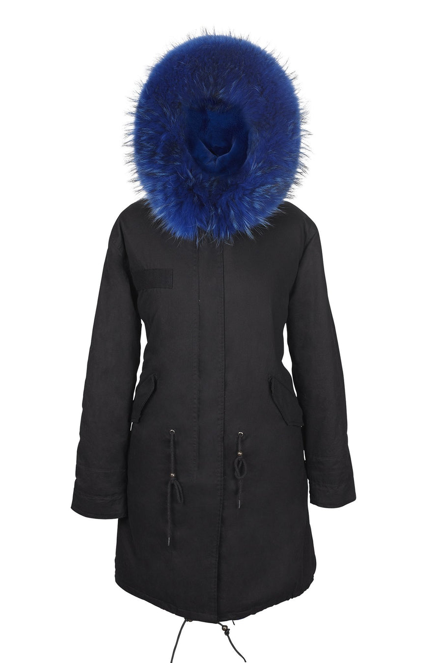Wild Blue Black Darling Parka