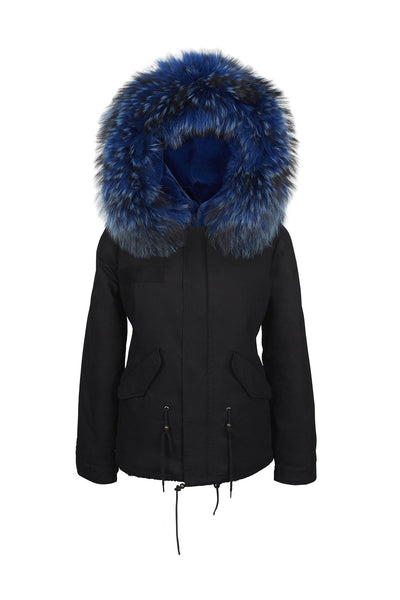 Jane and Tash, Wild Blue Black Grace Parka 01