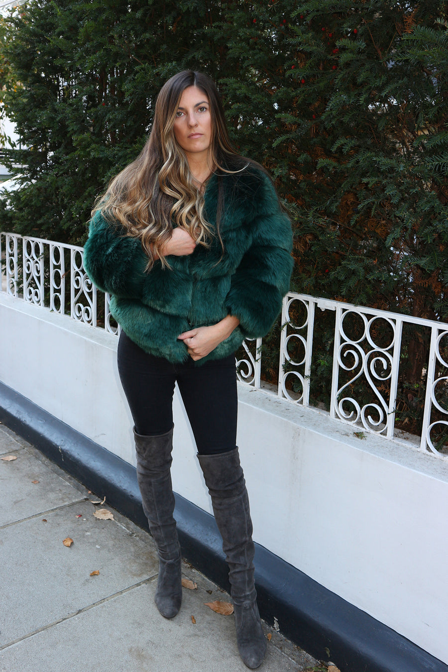 Emerald Faux Fur Jacket