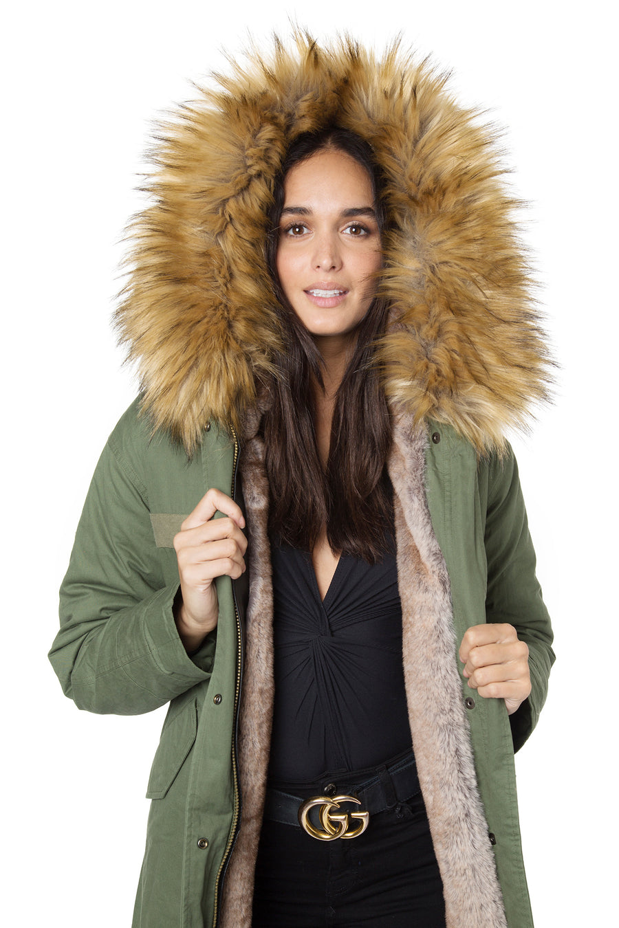 Faux Natural Darling Parka