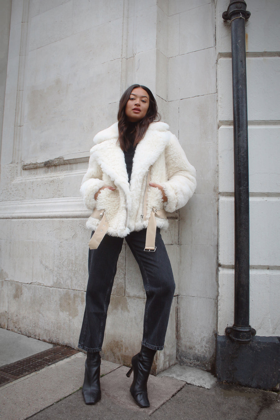 Shearling Aviator Coat