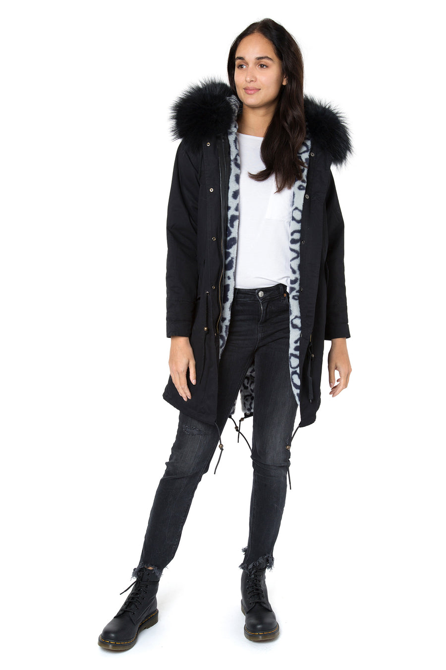 Limited Edition Faux Lined Leopard Darling Parka