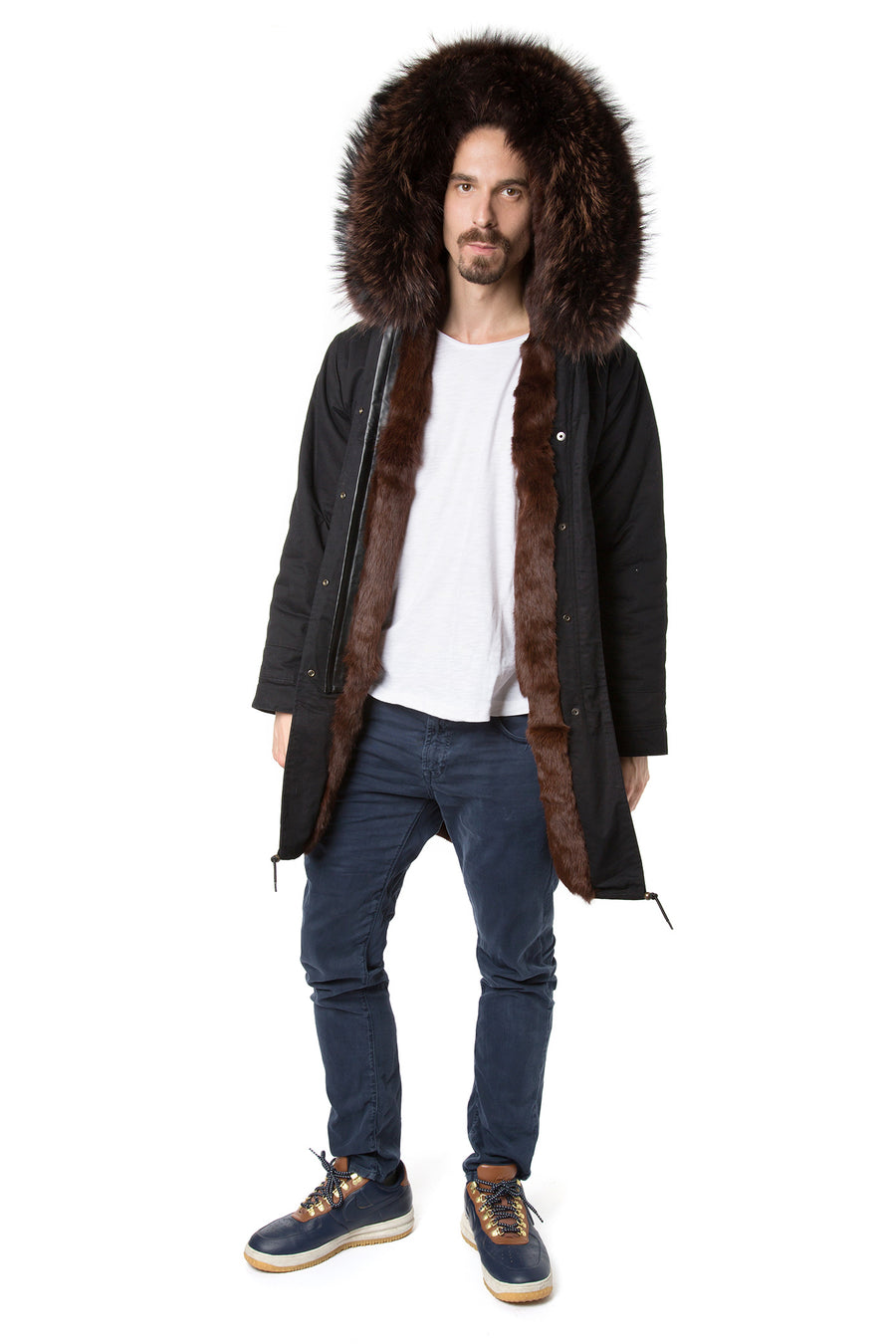 Faux Men's Coco Brown Darling Parka