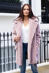 Mauve Teddy Bear Coat
