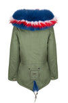 Red White & Blue Grace Parka