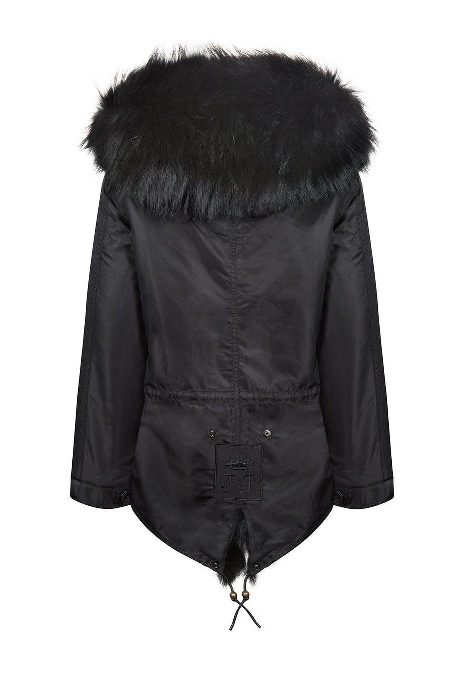 Shiny Black Grace Parka