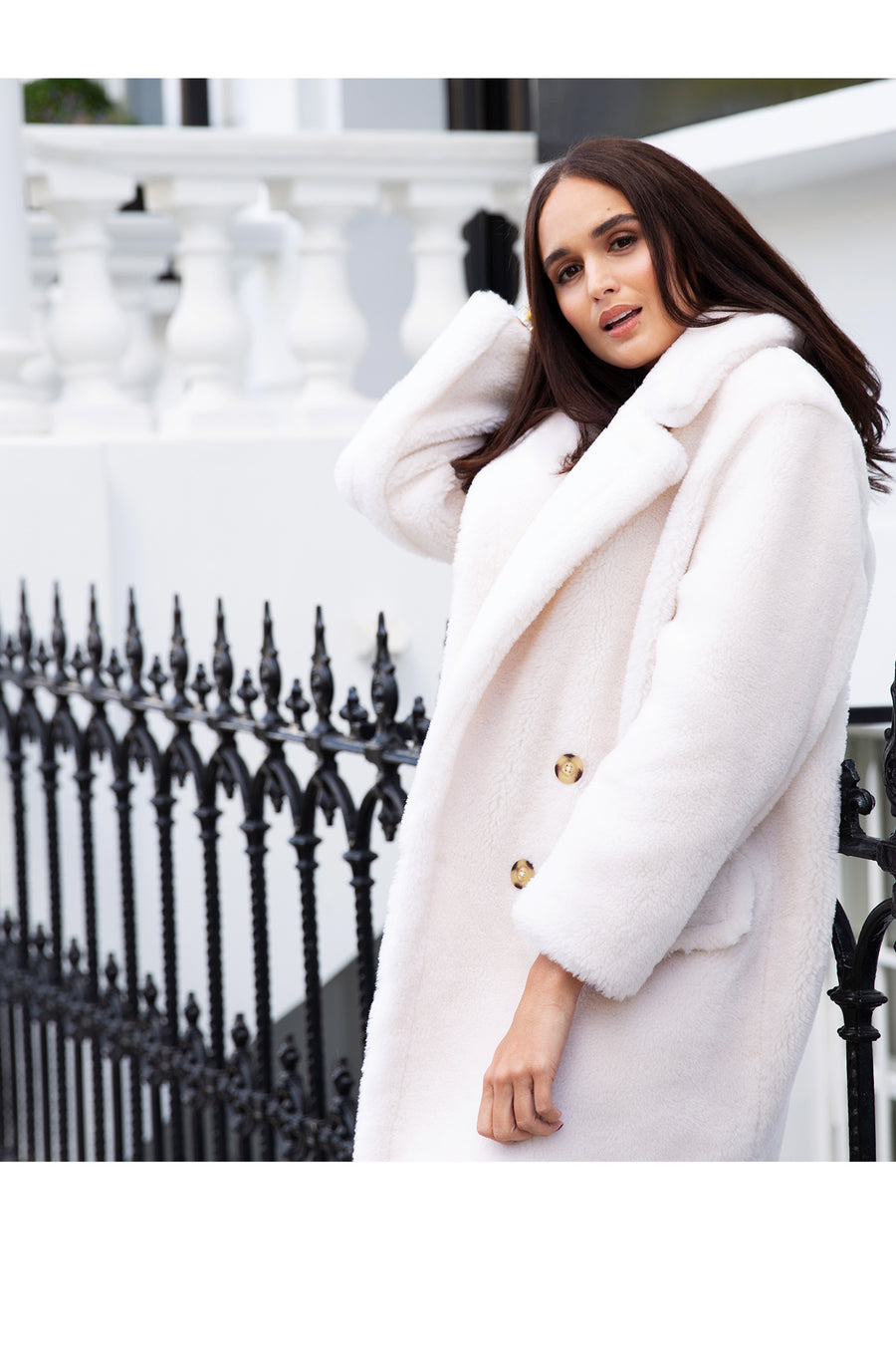 White Teddy Bear Coat
