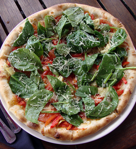 Spinach Margarita Pizza