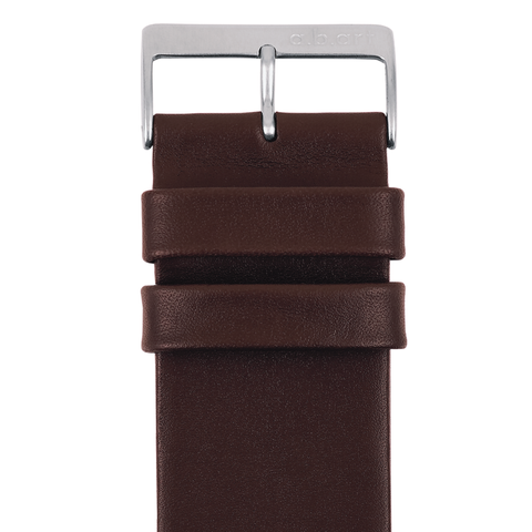 Leather strap dark brown 1.10 size L
